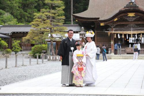 小國神社の結婚式の様子